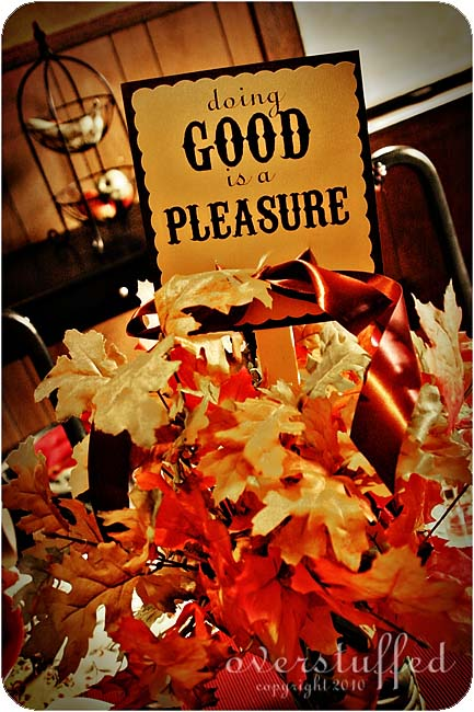 Back-to-School Feast and Family Theme: Doing Good is a Pleasure
