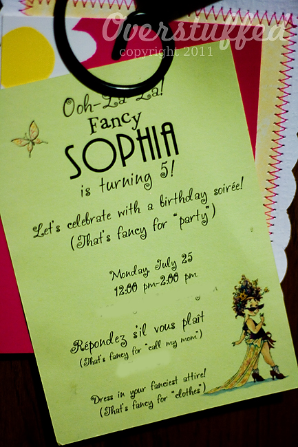 Sophia's Very Fancy Birthday Party <br>(Three Months Late!)