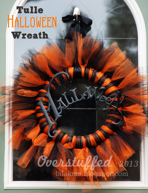How to Make a Tulle Halloween Wreath