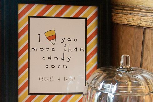 I Love Candy Corn.  A Lot. {free printable}