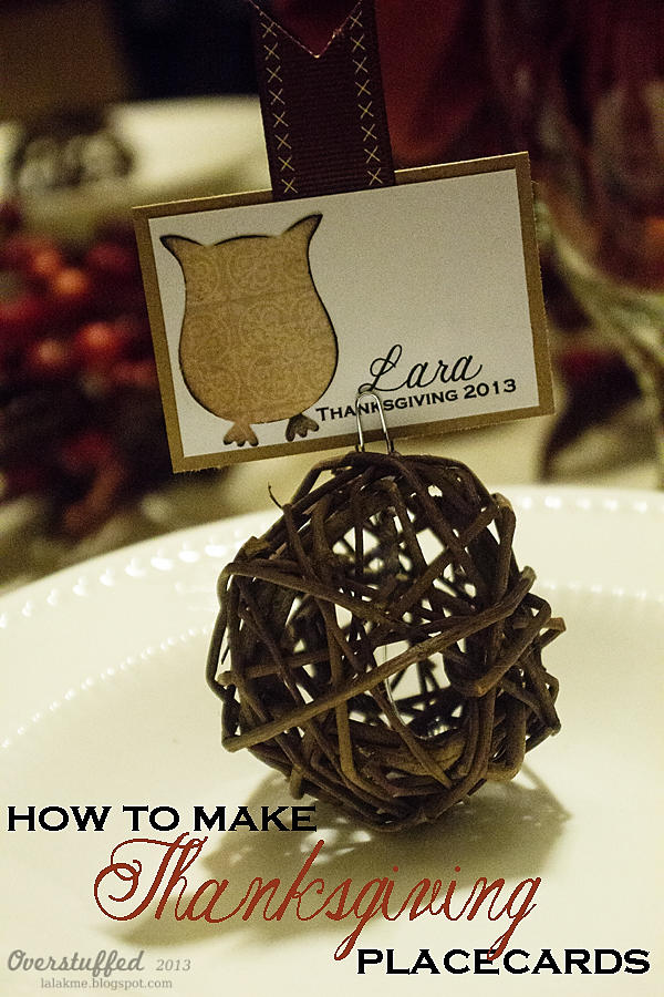 Thanksgiving Table Setting and Place Cards