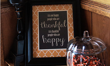 It is Thankful People Who are Happy:  Thanksgiving Printable