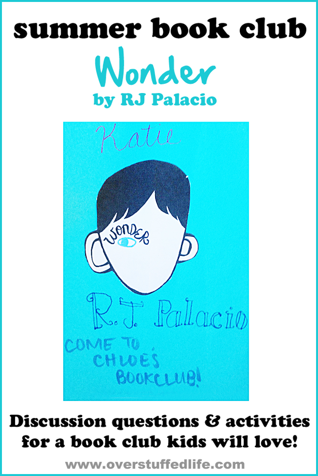 Summer Book Club for Kids: Wonder by RJ Palacio