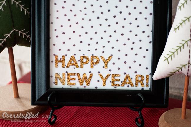 Happy New Year Glitter Printable