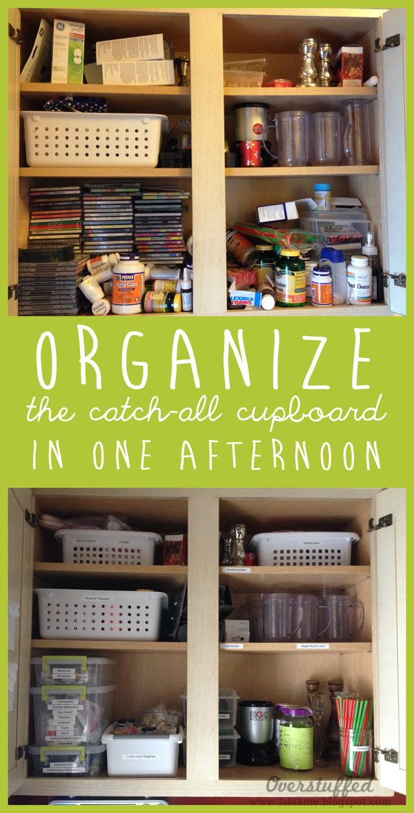 Organizing the Catch-all Cupboard