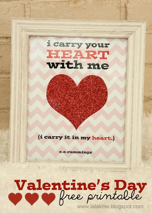e.e. cummings Valentine's Day Printable