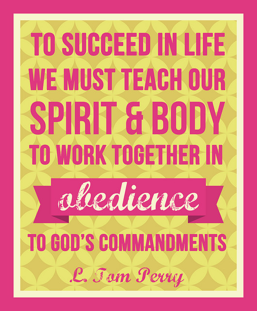 Obedience Makes Us Strong: General Conference Printables