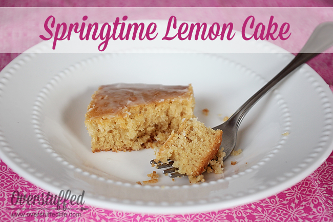 Springtime Lemon Cake--An Easy Cake Mix Recipe