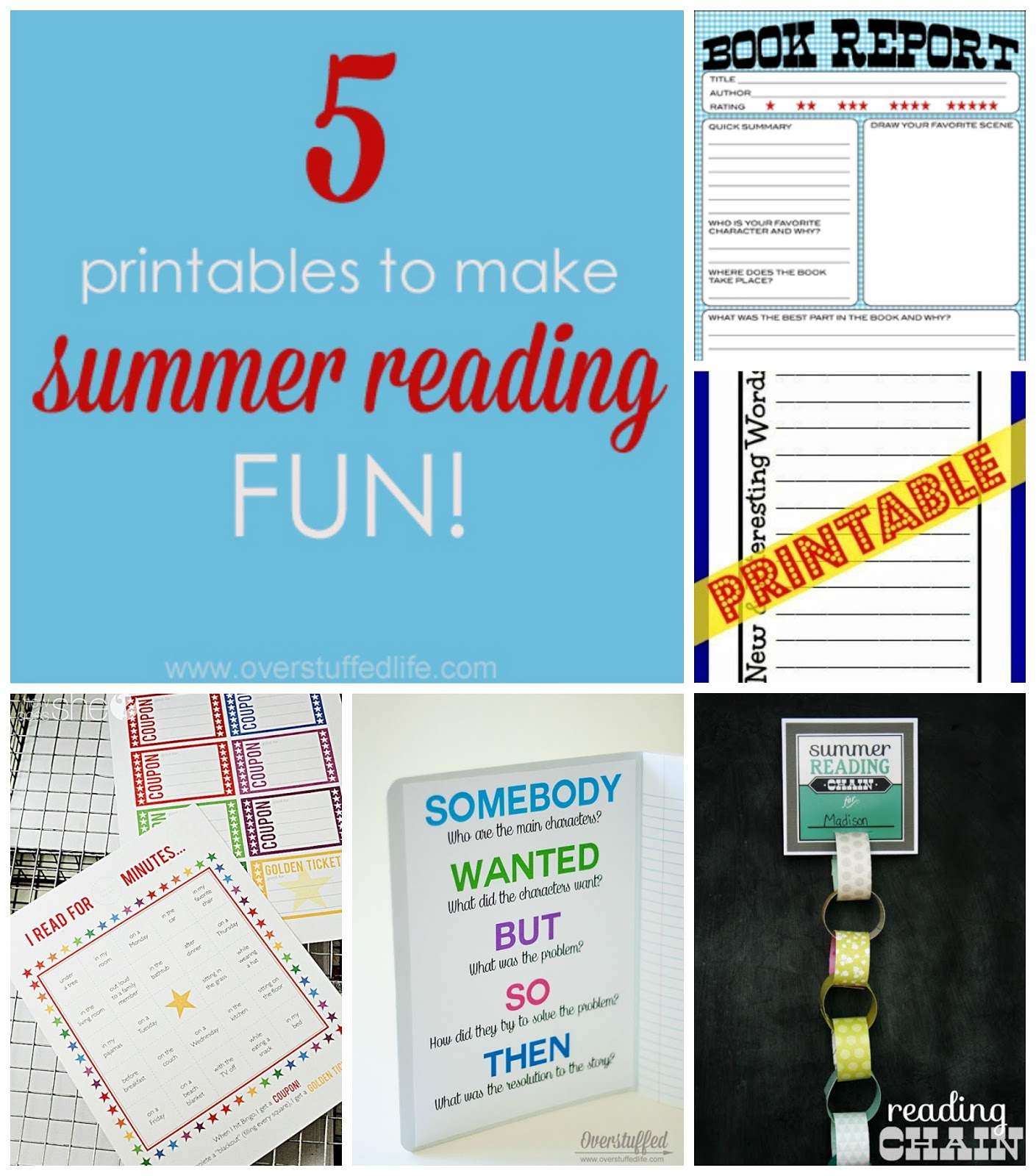 Five Printables to Make Summer Reading Fun