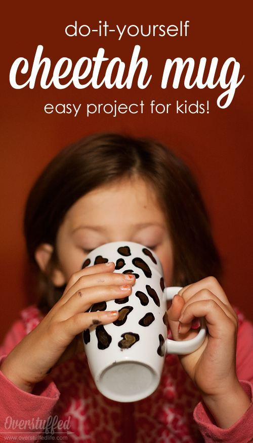 Do-it-yourself Cheetah Mug--Easy Craft for Kids