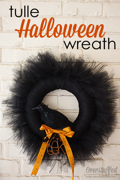 Halloween Mantel and Tulle Wreath