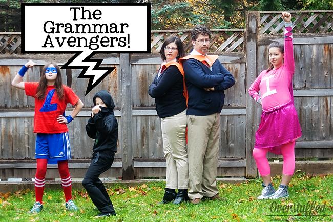 Happy Halloween from the Grammar Avengers!