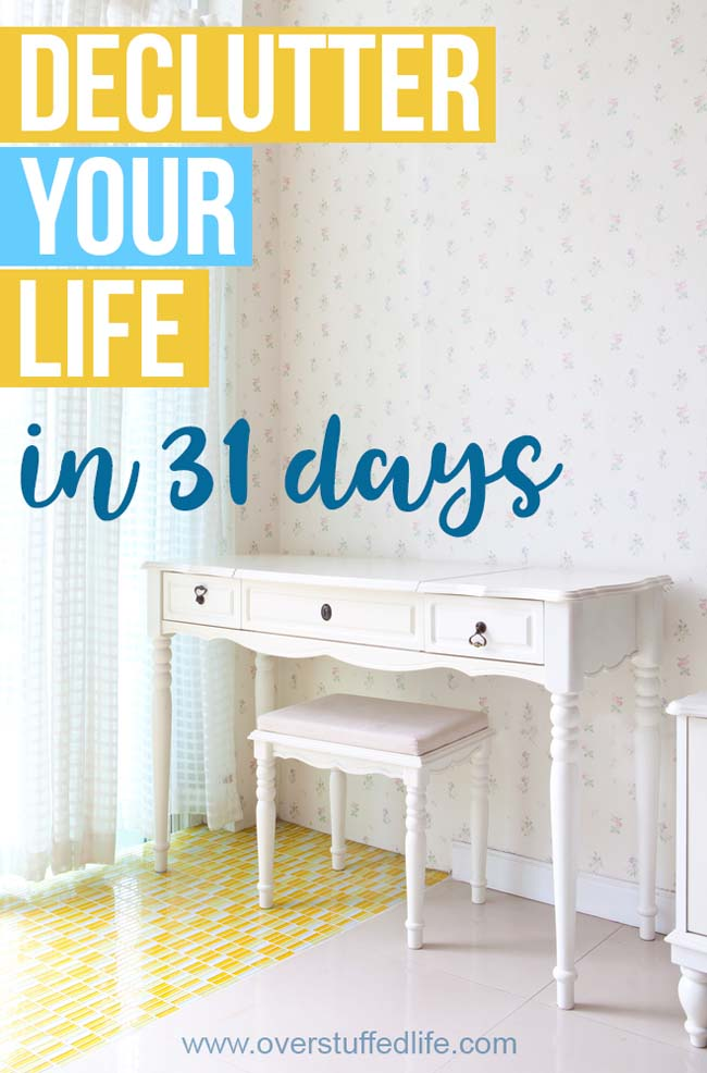 31 Days to Less Clutter and More Peace