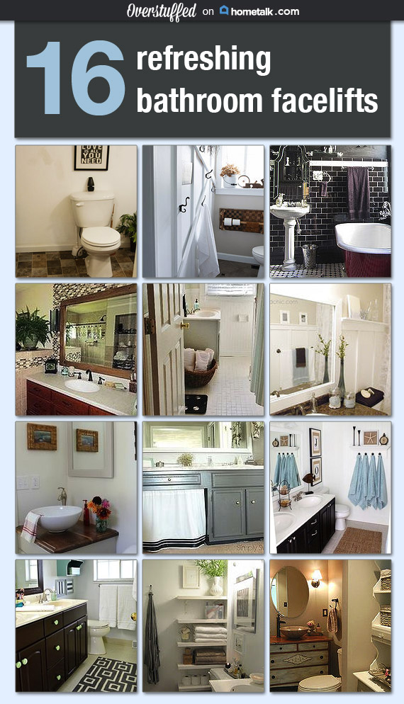 16 Refreshing Bathroom Facelifts