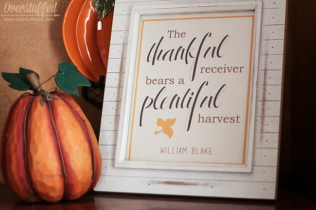 The Thankful Receiver Bears a Plentiful Harvest—Free Thanksgiving Printable