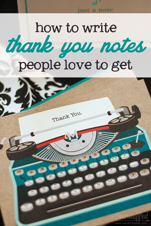 Writing and Organizing Thank You Cards