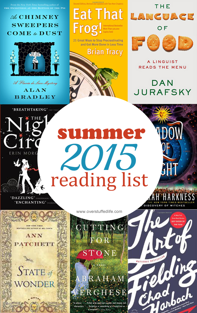 My 2015 Summer Reading List