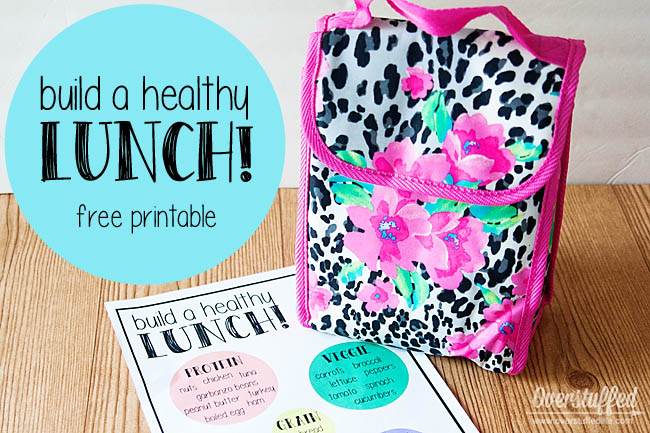 Teach Your Kids to Pack Healthy Lunches {Free Printable}