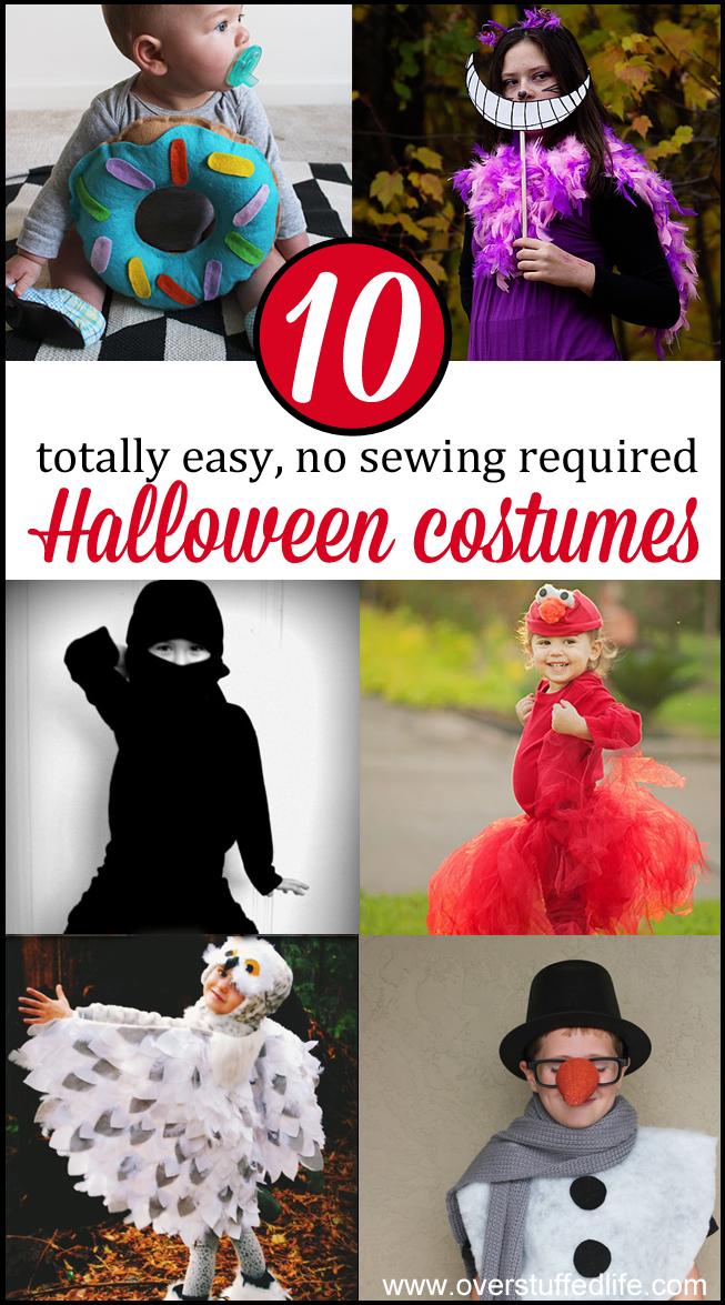10 No Sew Halloween Costumes Anyone Can Make