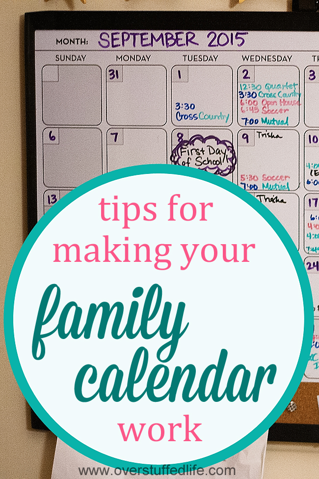 Make Your Home Happier With a Family Calendar