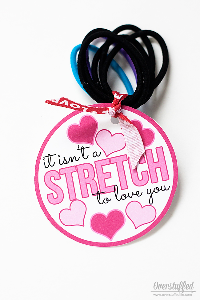 "It Isn't a ""Stretch"" to Love You Valentine's Day Printable"