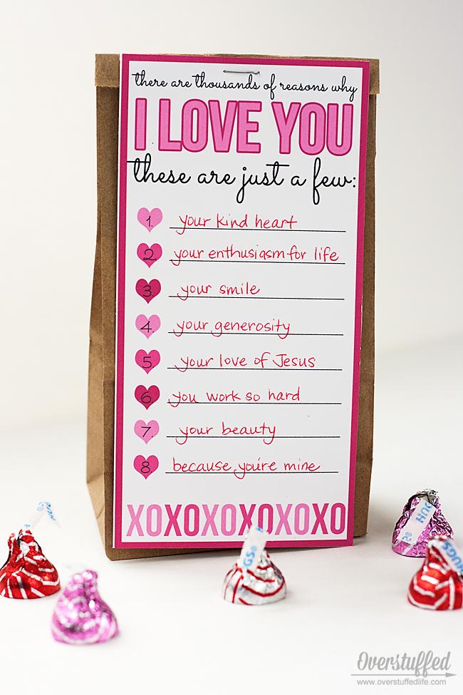Valentine Love List Printable
