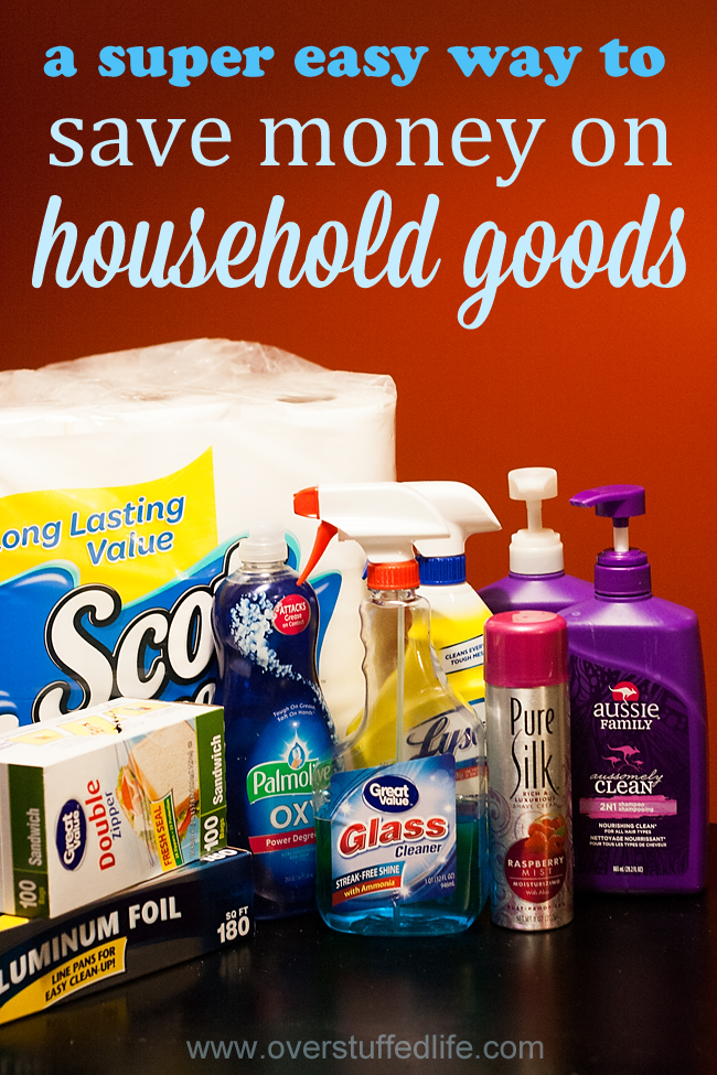 An Easy Way to Save Money on Household Goods {free printable}