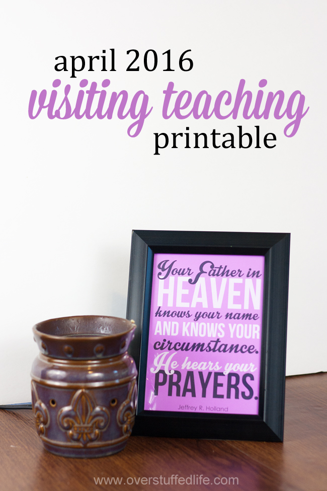 April 2016 Visiting Teaching Printable