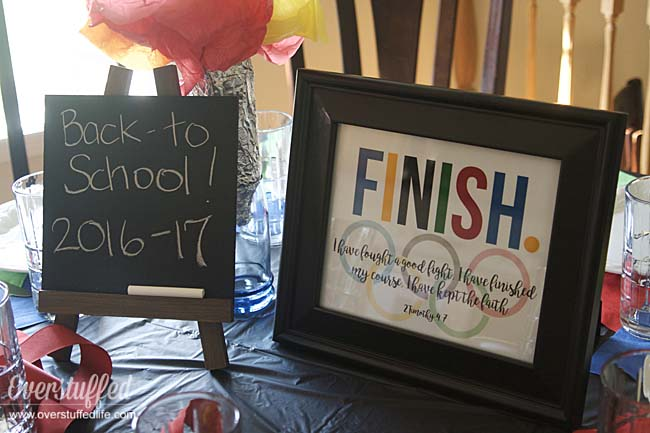 Back-to-School Feast and Family Theme: Finish