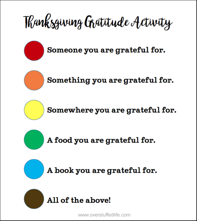 Fun Thanksgiving Gratitude Activity {free printable}