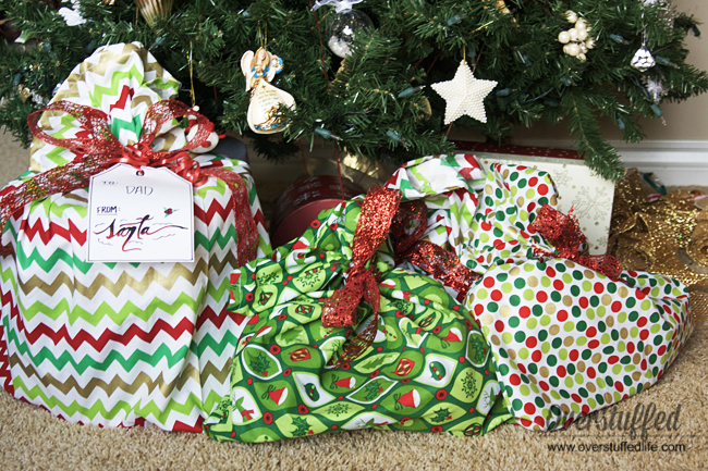 How to Make Santa Bags for Oddly Shaped Gifts