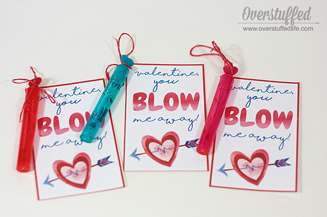 "You ""Blow"" Me Away Valentine's Day Printable"