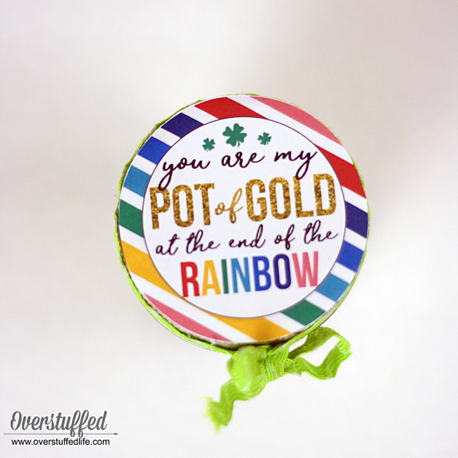 You Are My Pot of Gold St. Patrick's Day Gift {free printable}