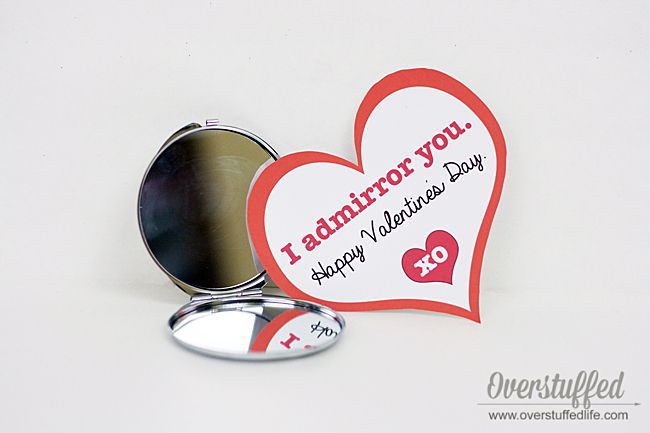 "I ""Admirror"" You Valentine's Day Printable"