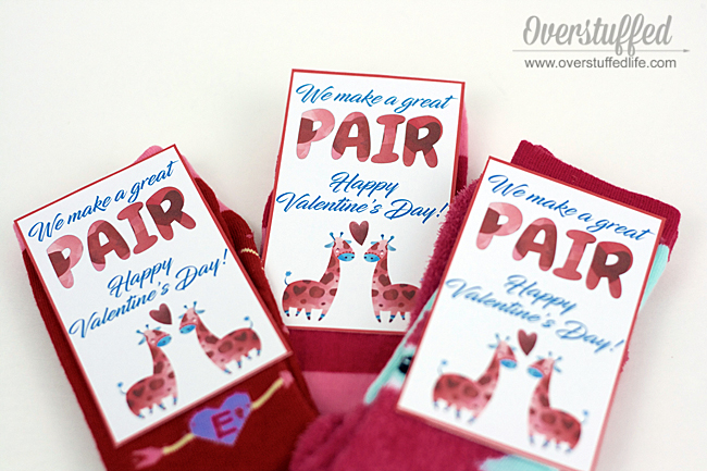 We Make a Great Pair Valentine Printable