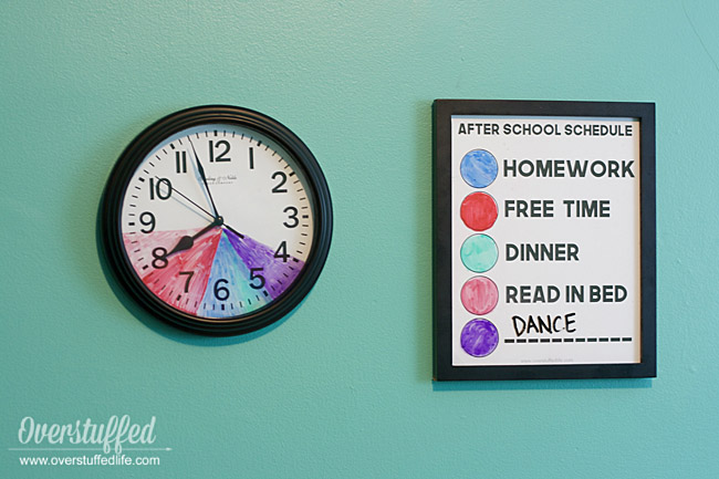 After School Routine Clock for Kids With Variable Schedules {free printable}