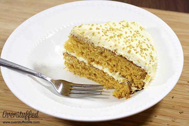 Easy Gluten Free Butterbeer Cake