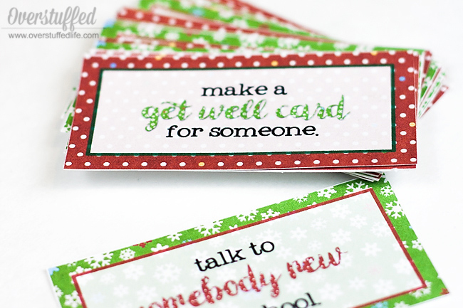 Free Printable Christmas Service Advent Cards