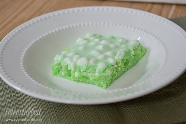 Lime Jello Salad with Cream Cheese and Marshmallows