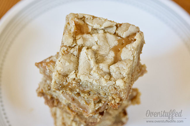 Gluten-free Salted Caramel Cookie Bars