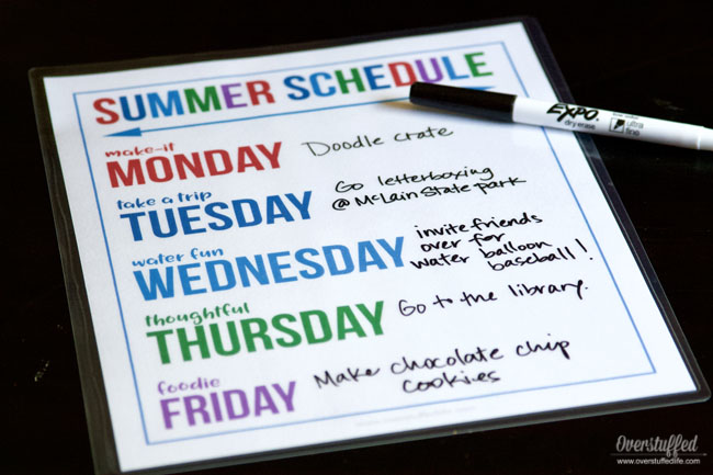 Summer Theme Days—Free Printable