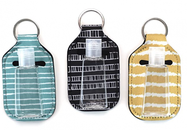 Always have hand sanitizer on hand with these keychains.