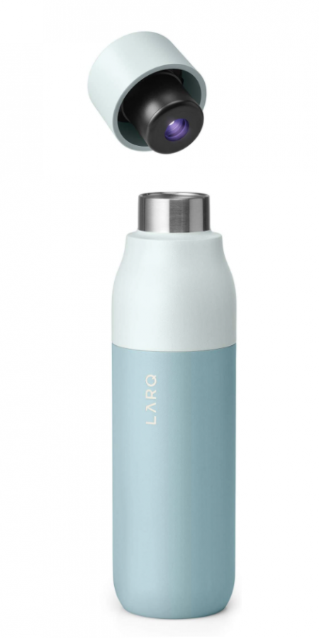 This self-cleaning water bottle keeps water free of viruses and bacteria
