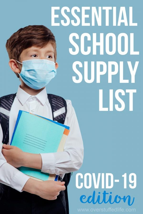 A school supply list for going to in person school during covid-19