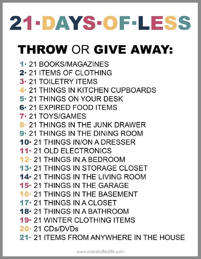 21 Day Declutter Challenge